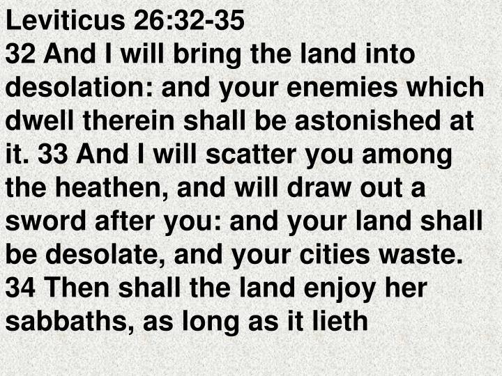 Leviticus 26:32-35