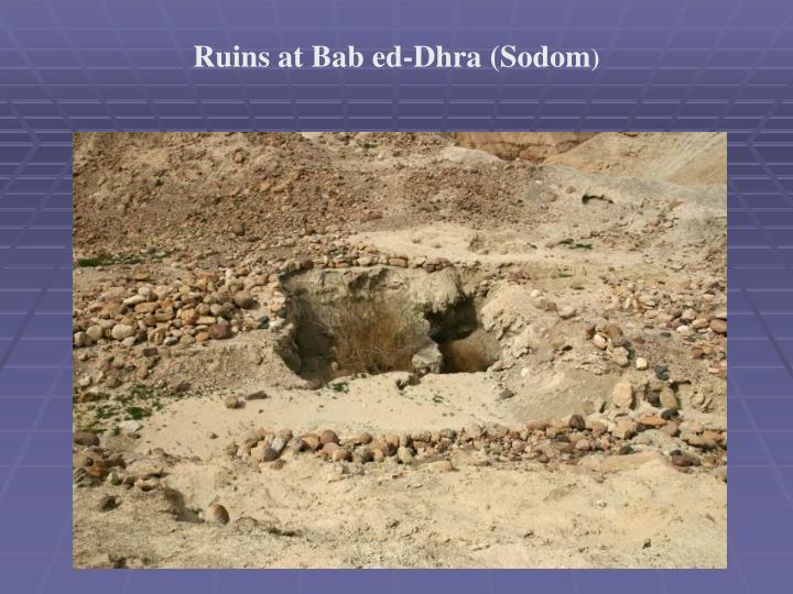 Ruins at Bab ed-Dhra (Sodom