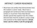 artifact career readiness