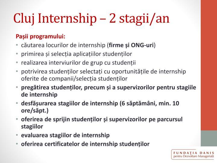 Cluj Internship – 2 stagii/an