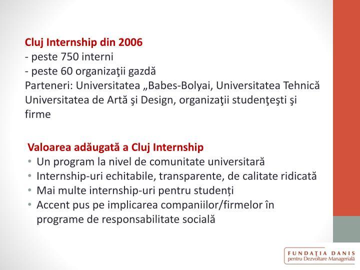 Cluj Internship din 2006