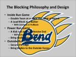 the blocking philosophy and design