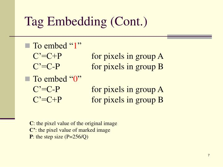 Tag Embedding (Cont.)