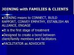 joining with families clients