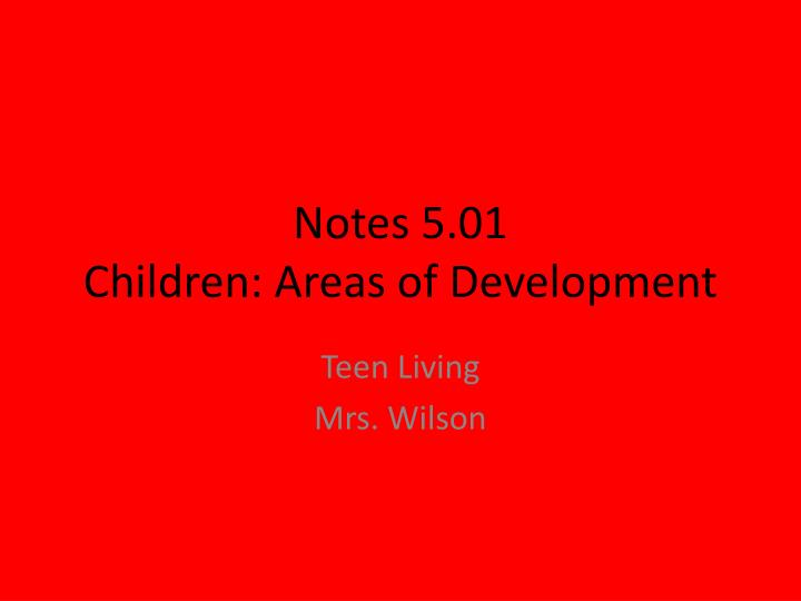 Notes 5.01