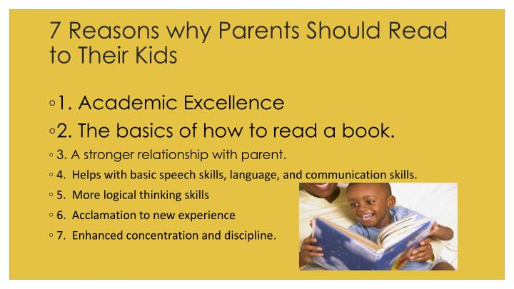 7 reasons why parents should read to their kids