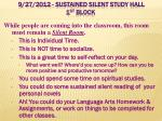 9 27 2012 sustained silent study hall 1 st block