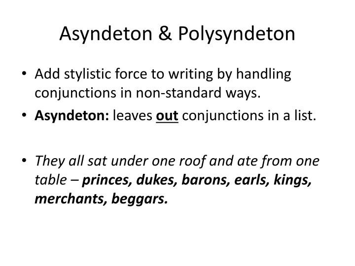 Asyndeton &