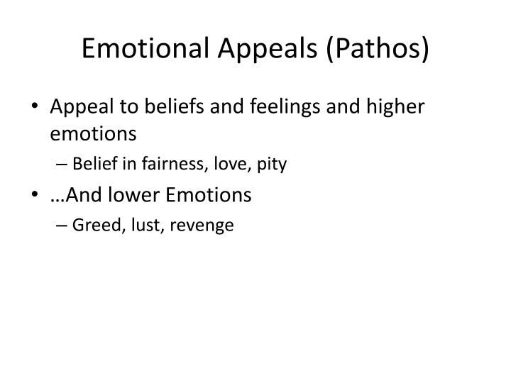 Emotional Appeals (Pathos)
