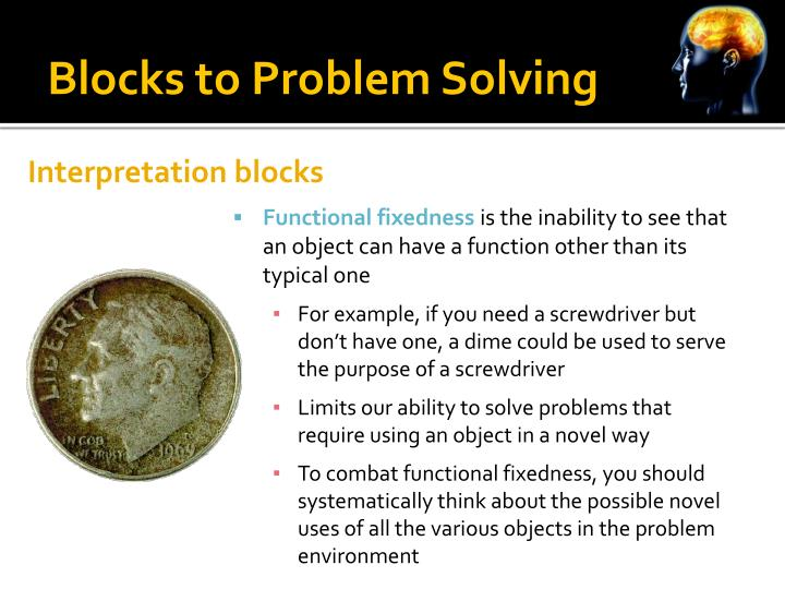 Blocks to Problem Solving