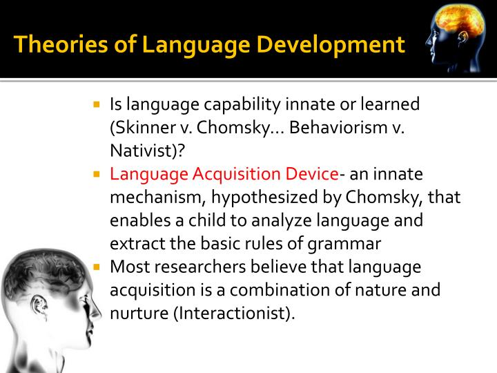 Theories of Language Development