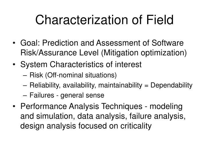 Characterization of Field