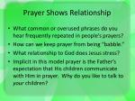 prayer shows relationship2