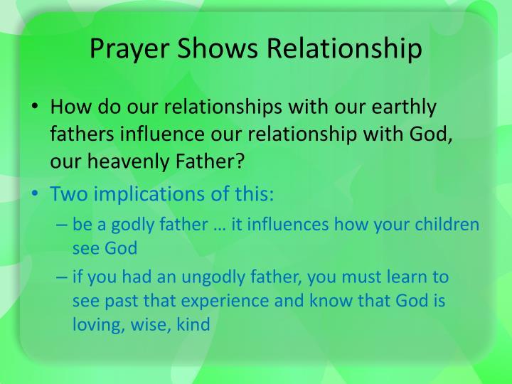 Prayer Shows Relationship