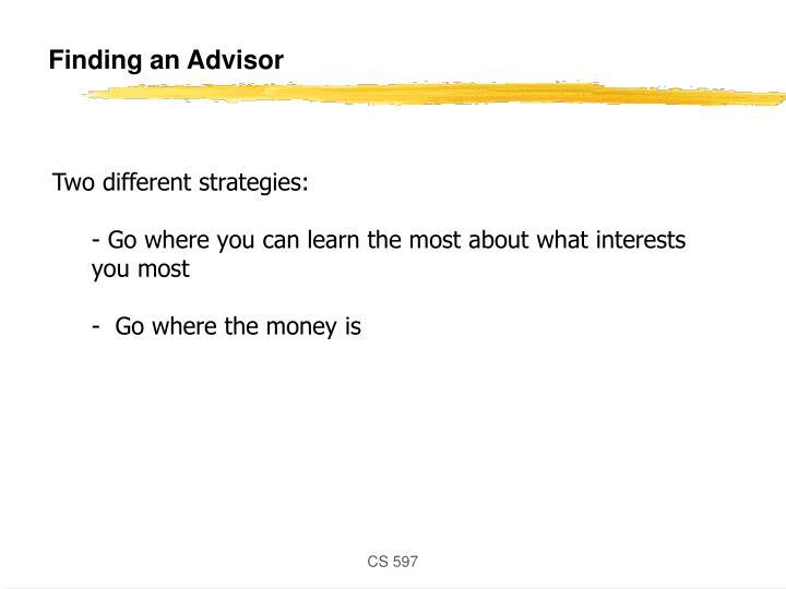 Finding an Advisor