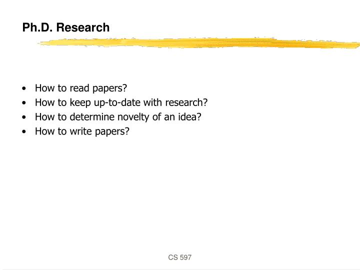 Ph.D. Research