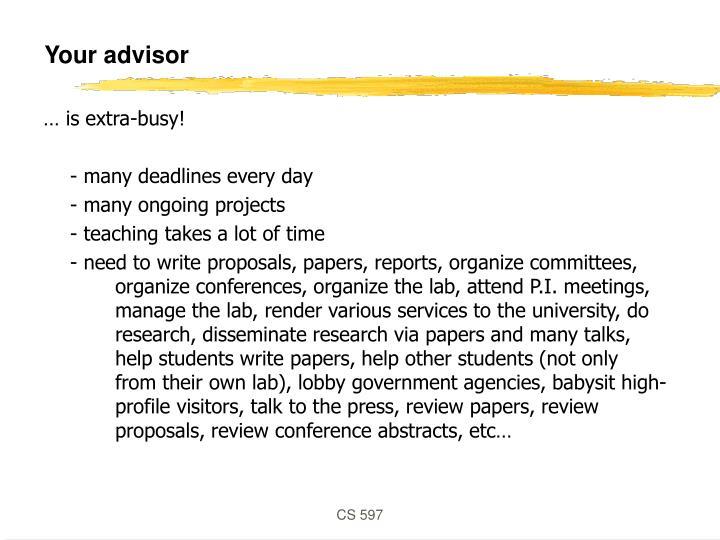 Your advisor