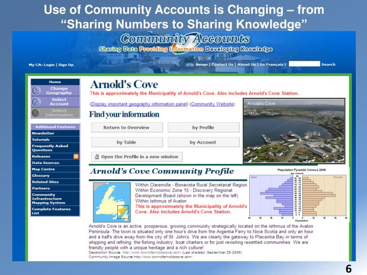 """Use of Community Accounts is Changing – from """"Sharing Numbers to Sharing Knowledge"""""""