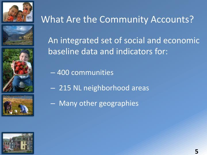 What Are the Community Accounts?