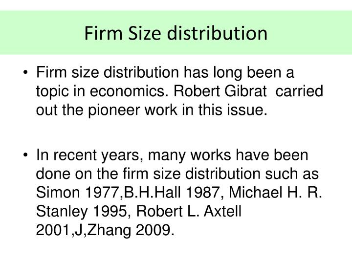 Firm Size distribution