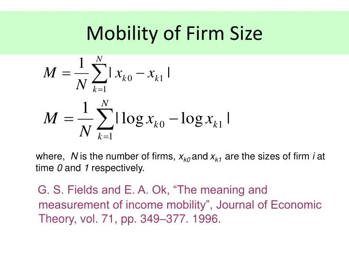 Mobility of Firm Size