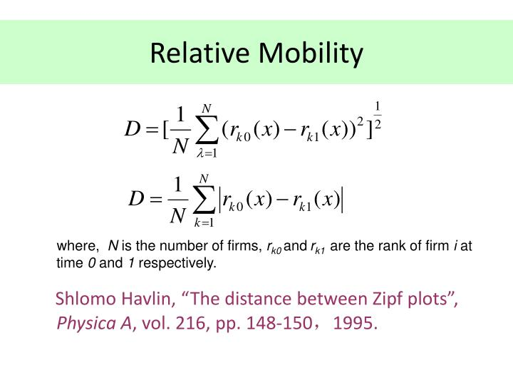 Relative Mobility