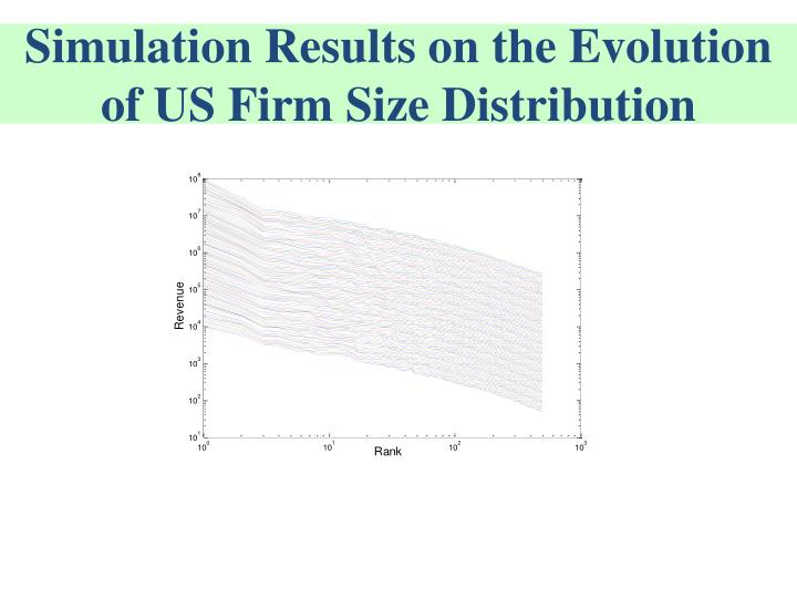 Simulation Results on the Evolution of US Firm Size Distribution