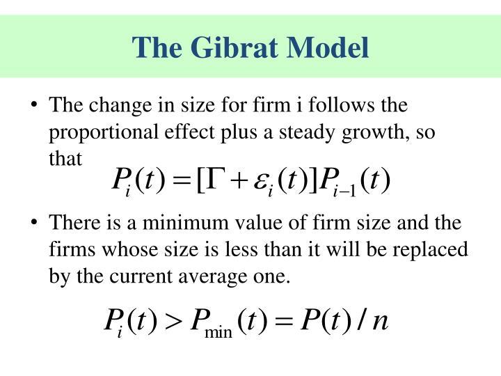 The Gibrat Model