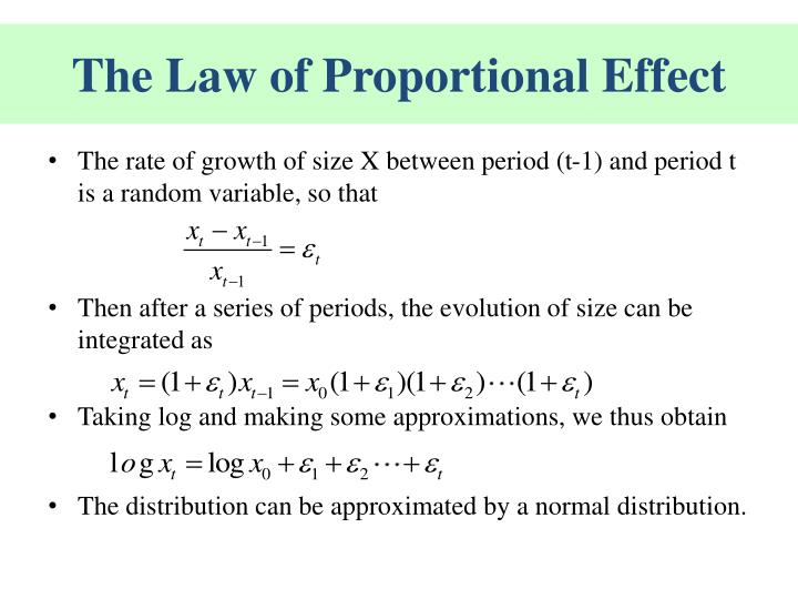 The Law of Proportional Effect