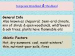 temperate woodland shrubland