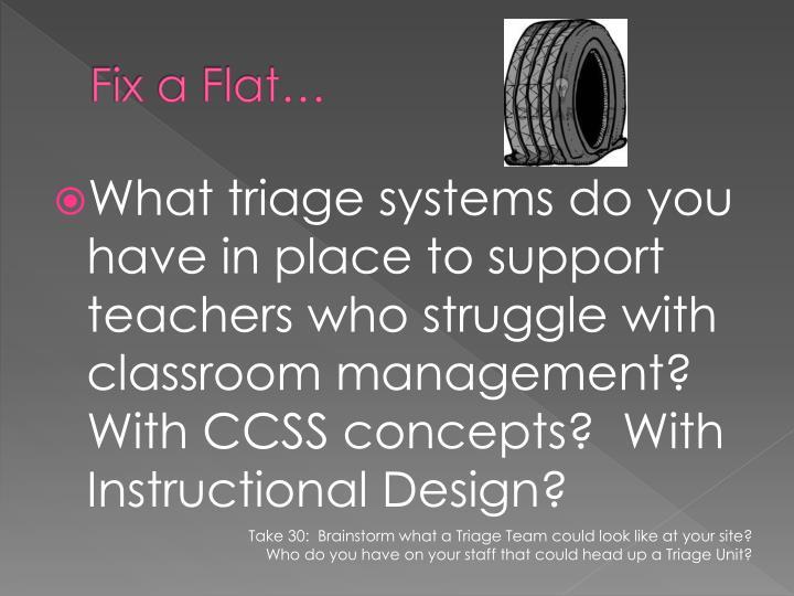 Fix a Flat…