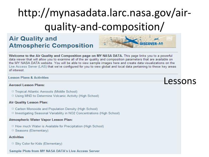 http://mynasadata.larc.nasa.gov/air-quality-and-composition/