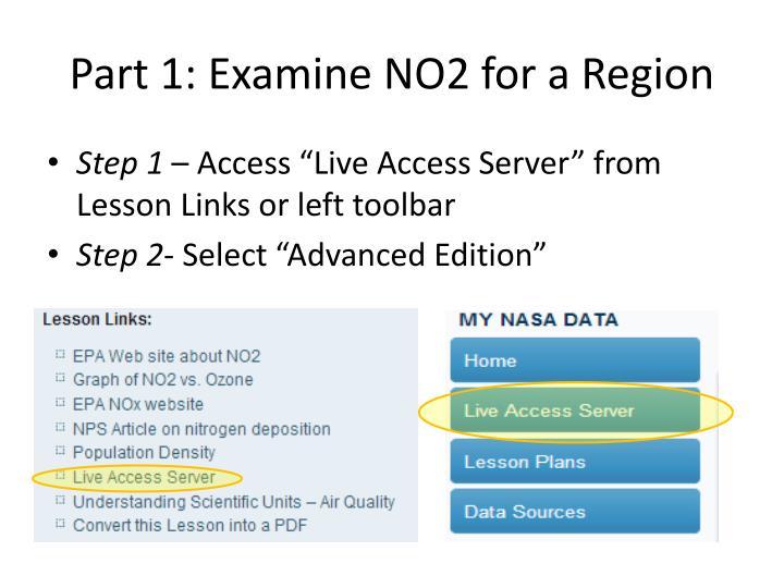 Part 1: Examine NO2 for a Region