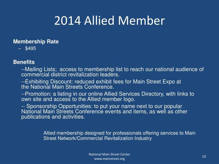 2014 Allied Member