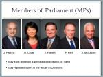 members of parliament mps