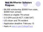 ned mcwherter scholars program