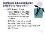 tennessee education lottery scholarship program2