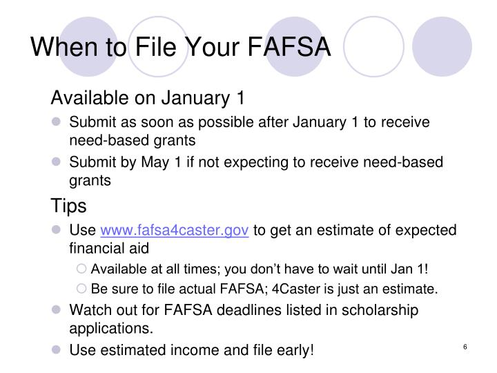 When to File Your FAFSA