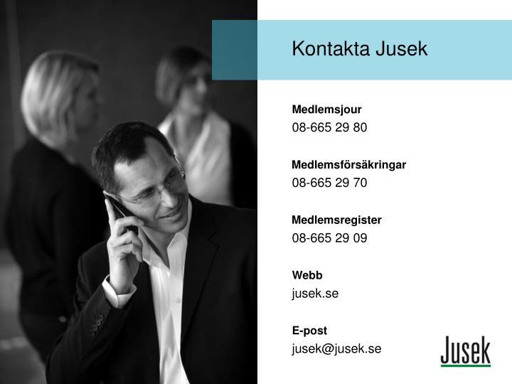 Kontakta Jusek
