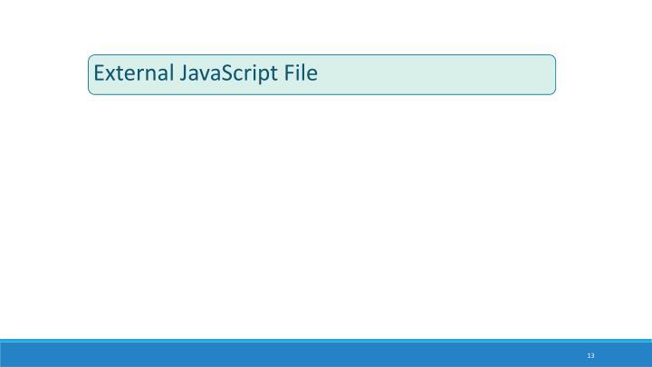 External JavaScript File
