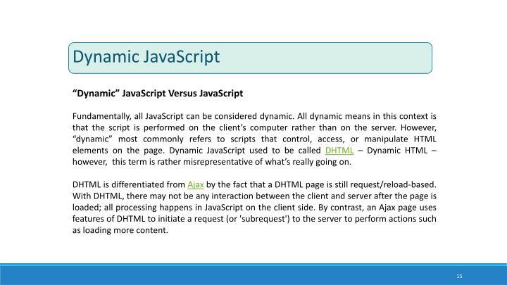 Dynamic JavaScript