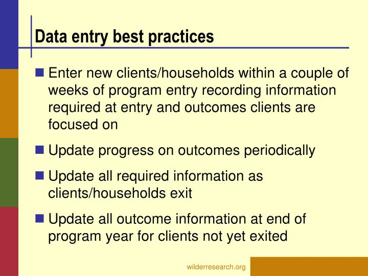 Data entry best practices