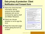 data privacy protection client notification and consent form