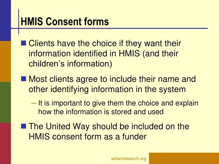 HMIS Consent forms