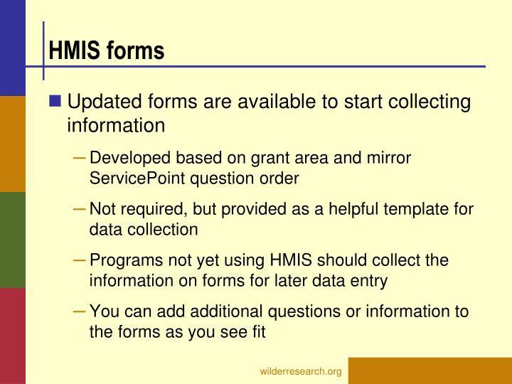 HMIS forms