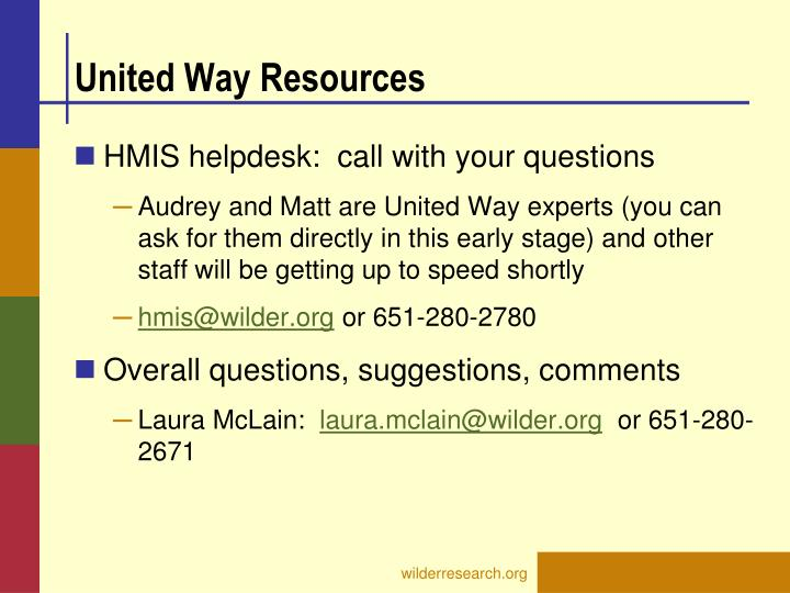 United Way Resources