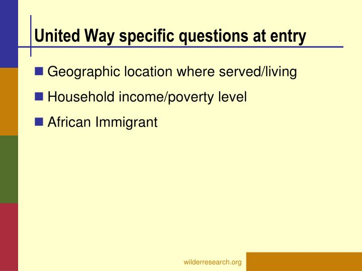 United Way specific