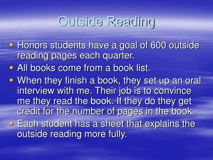 Outside Reading