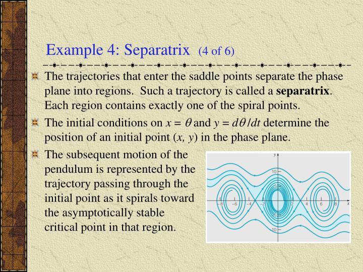 Example 4: Separatrix