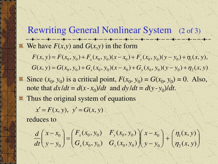 Rewriting General Nonlinear System